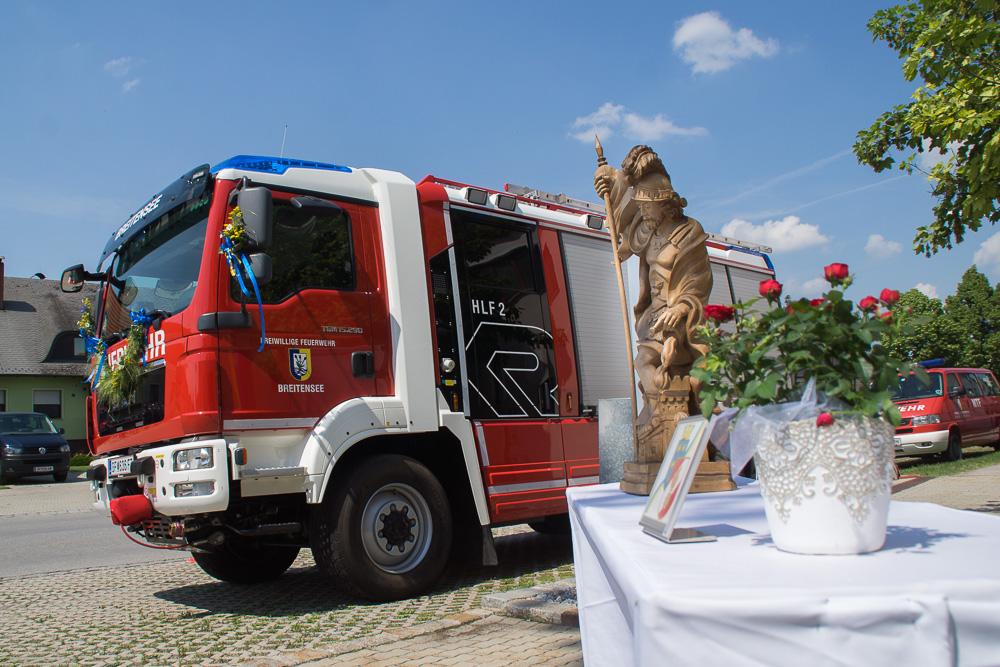 Fahrzeugweihe in Breitensee